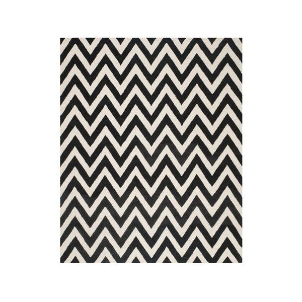 Dywan wełniany Stella Black, 243x304 cm