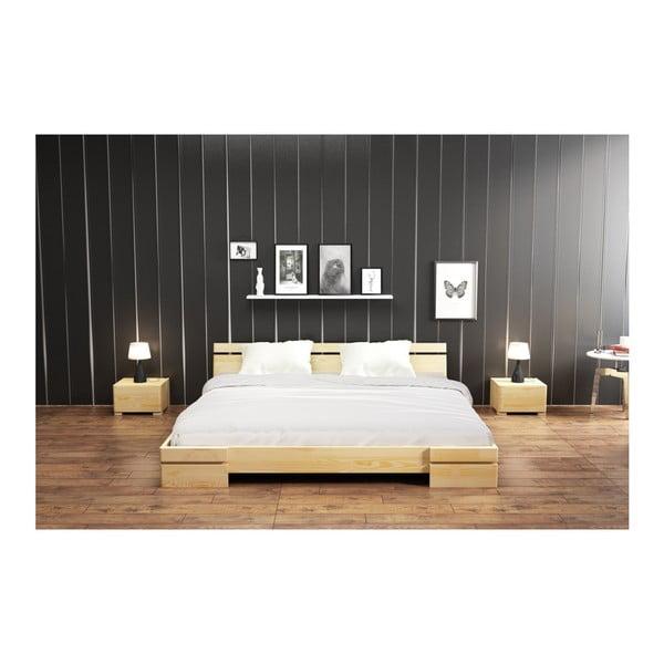 Łóżko 2-osobowe z drewna sosnowego SKANDICA Sparta, 200x200 cm