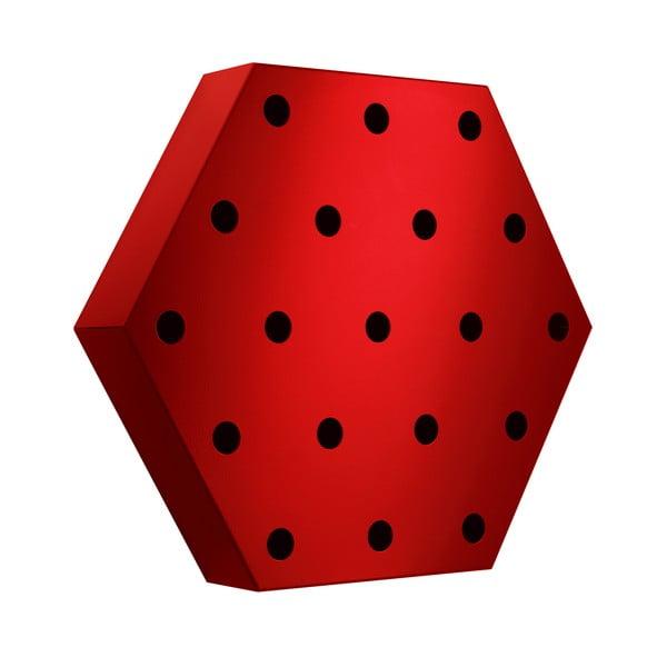 Stojak na wino Hexagon Maxi, czerwony