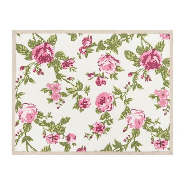 Bawełniana mata stołowa Roses Pink, 35x45 cm