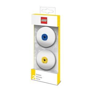Komplet 2 gumek do mazania z niebieskim i żółtym motywem LEGO®