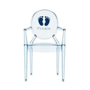 Przezroczyste krzesełko dziecięce Kartell Lou Lou Ghost Boy