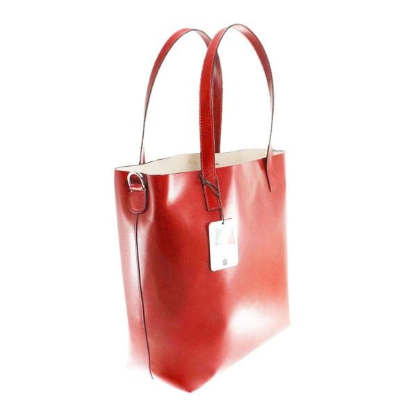 Czerwona skórzana torba Chicca Borse Greta