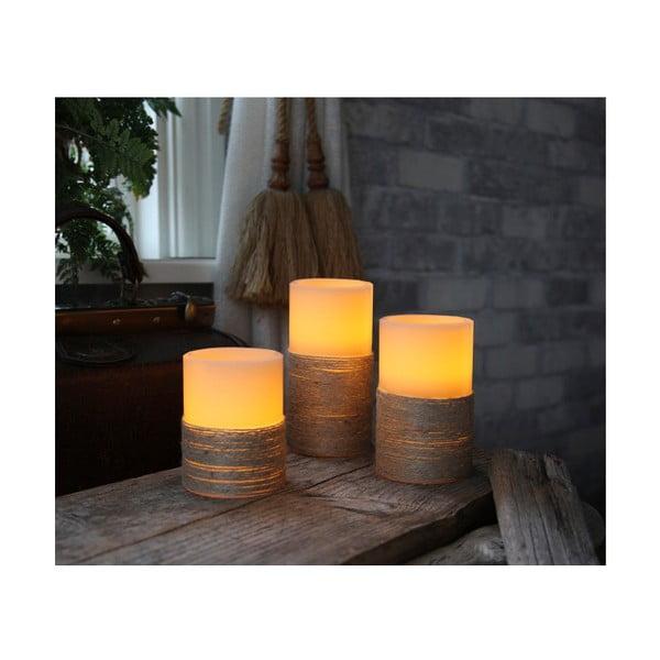 Biała świeczka LED, 10 cm