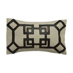Poduszka Oriental z efektem skóry, 33x60 cm