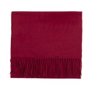Ciemnoczerwony szal kaszmirowy Bel cashmere Dina, 180x30cm