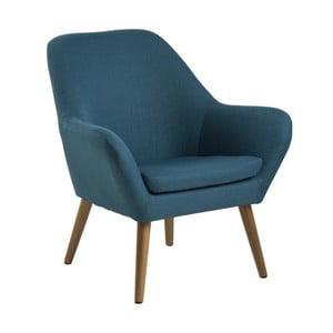 Niebieski fotel Actona Astro