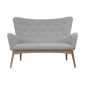 Szara sofa dwuosobowa Helga Interiors Karl