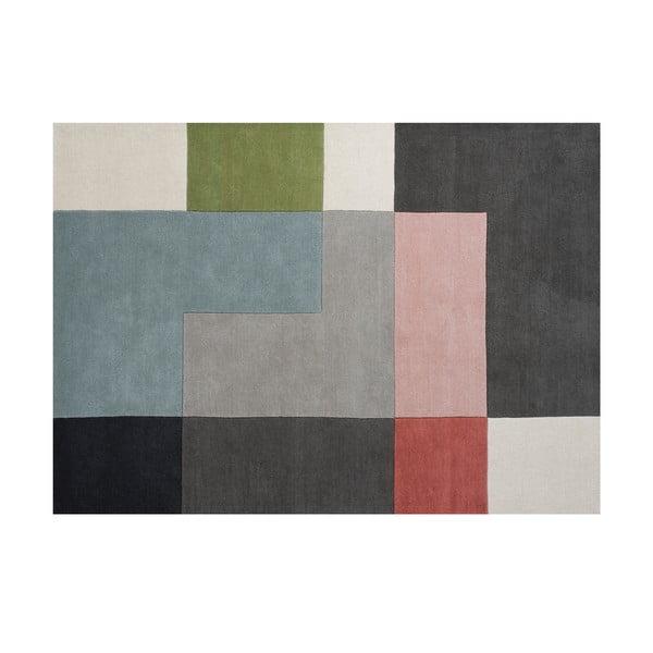 Wełniany dywan Tetris Powder, 170x240 cm