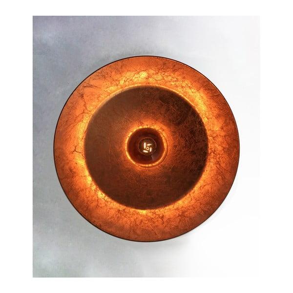 Czarna lampa wisząca z wnętrzem w miedzianym kolorze Bulb Attack Cinco Basic