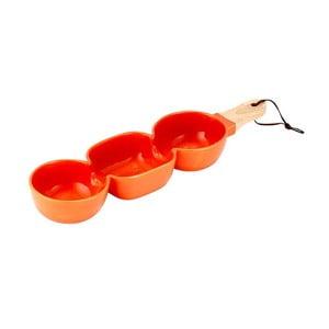 Pomarańczowa potrójna miska do serwowania Ladelle Classic
