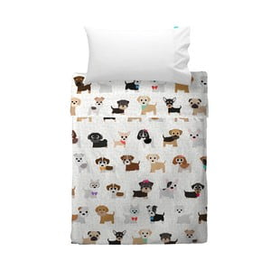 Poszewka na poduszkę i narzuta Mr. Fox Dogs, 120x180 cm