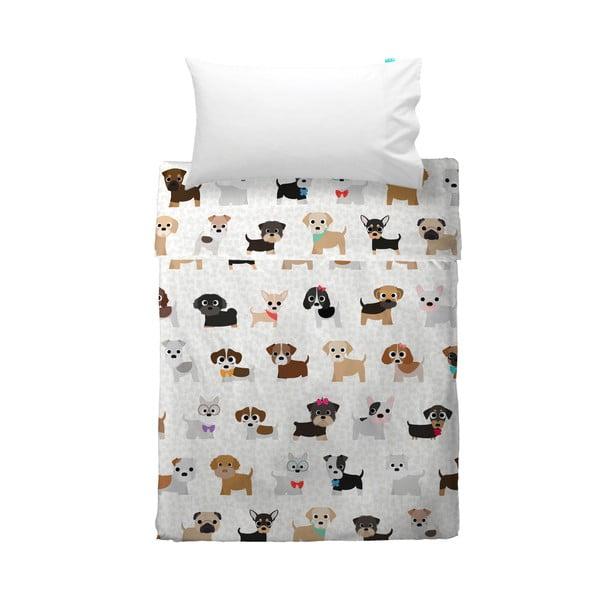 Poszewka na poduszkę i narzuta Mr. Fox Dogs, 100x135 cm
