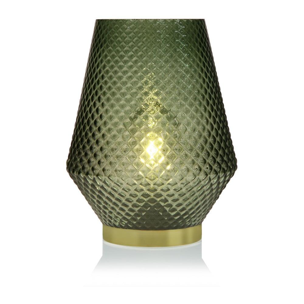 Zielona szklana lampa LED Versa Relax, ⌀ 21 cm