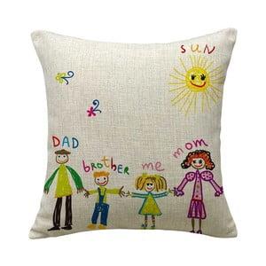 Poszewka na poduszkę Family, 45x45 cm