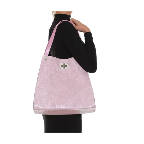 Skórzana torebka Anna Luchini 8038 Rosa