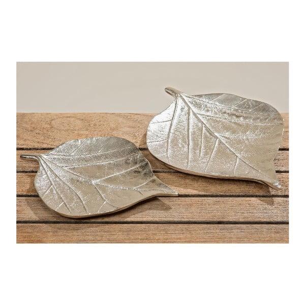 Komplet 2 talerzy dekoracyjnych Leaf