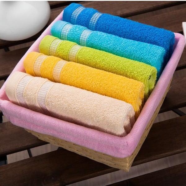 Zestaw 5 ręczników Pink Basket, 30x50 cm