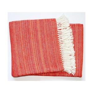 Czerwony koc Euromant Toscana, 140x180 cm