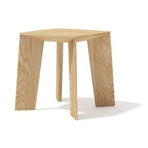 Stolik z litego drewna dębowego Javorina Tin Tin, 35cm