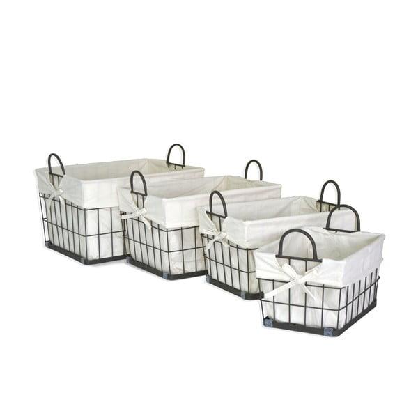 Zestaw 4 koszyków Fabric Baskets