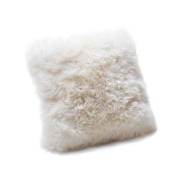 Biała poduszka Royal Dream Sheepskin, 30x30 cm