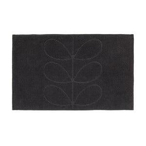 Czarny dywanik łazienkowy Orla Kiely Jacquard, 50x80 cm