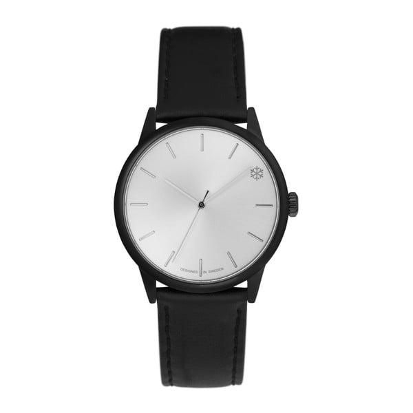 Zegarek z czarnym paskiem i cyferblatem w kolorze srebra  CHPO Pow