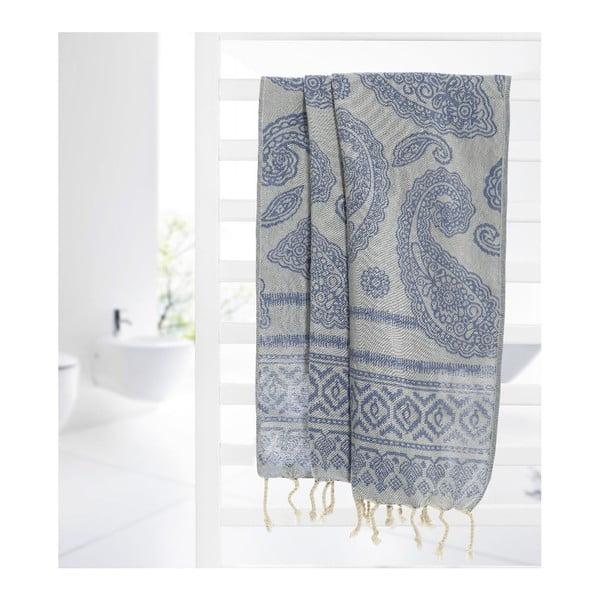 Ręcznik hammam Paisley Blue, 95x175 cm