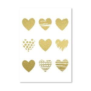 Plakat Americanflat Hearts, 30x42 cm