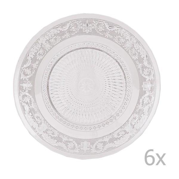 Zestaw 6 szklanych talerzy Clayre, 20 cm