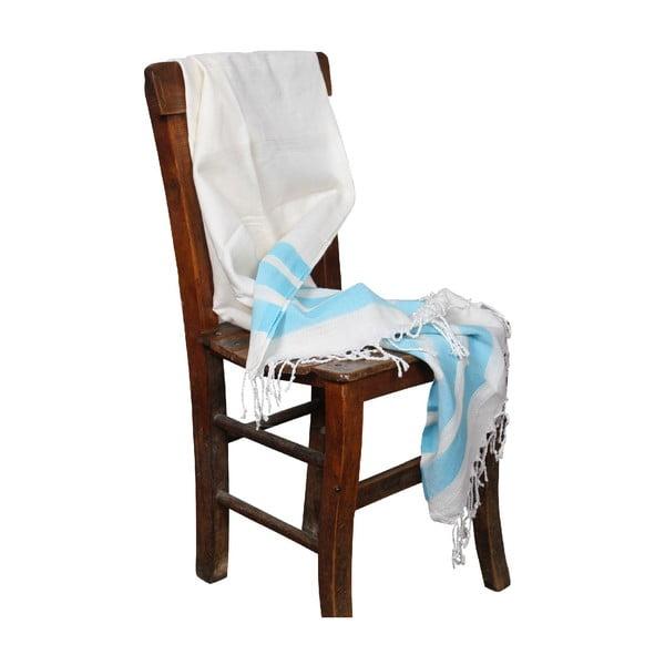 Ręcznik hammam Mimoza Turquoise, 90x190 cm