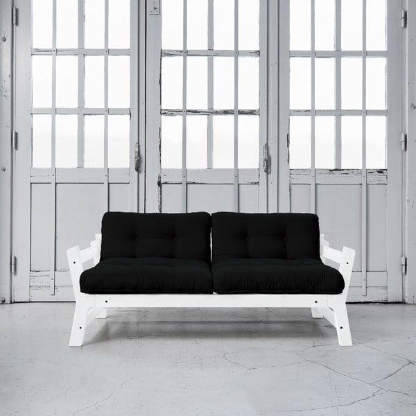 Sofa rozkładana Karup Step White/Black