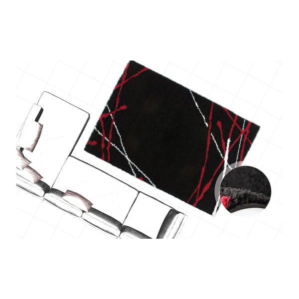 Dywan Edge 228 Black, 80x150 cm