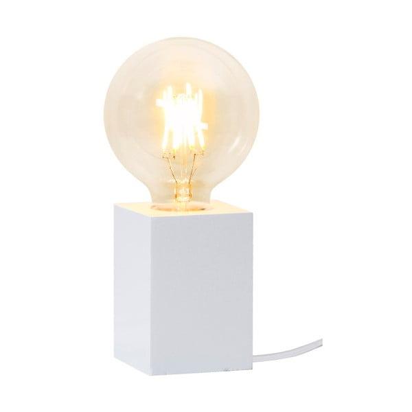 Biała lampa drewniana Best Season Lys