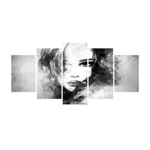 Wieloczęściowy obraz Black&White no. 114, 100x50 cm