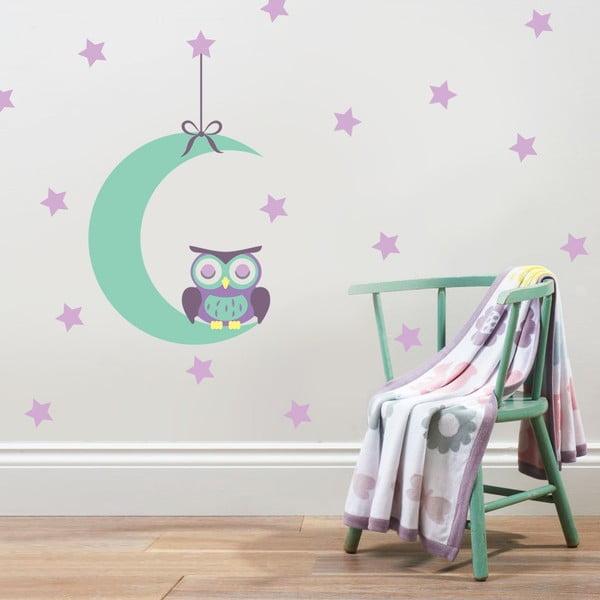 Naklejka Sowa na księżycu, 70x50 cm