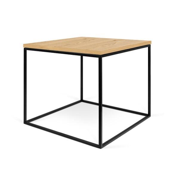 Stolik z czarnymi nogami TemaHome Gleam, 50 cm