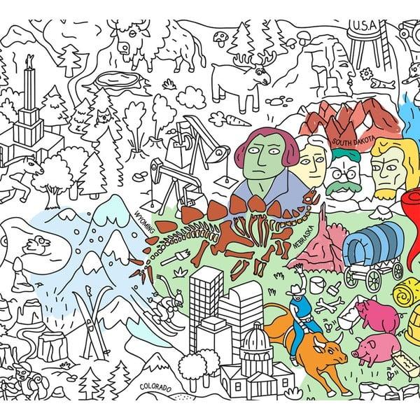 Kolorowanka USA (70 x 100 cm)