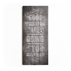 Obraz z drewna Graham & Brown Good Things,30x70cm