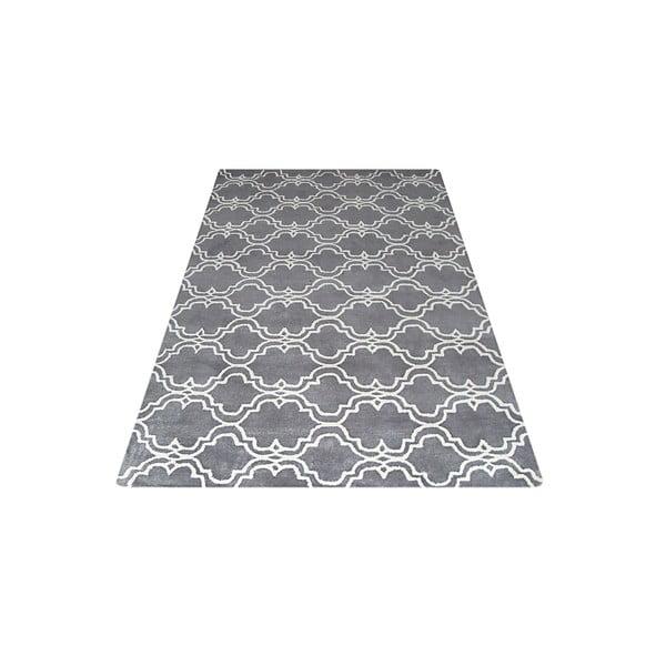 Szary dywan tuftowany ręcznie Bakero Riviera, 153x244 cm