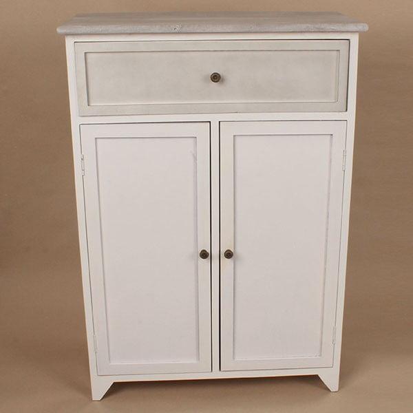 Drewniana szafka White Days, 62x87 cm