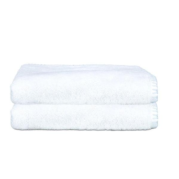 Zestaw 2 ręczników Whyte 50x90 cm, biało-niebieski