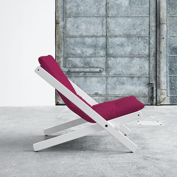 Fotel składany Karup Boogie White/Pink