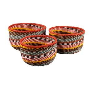 Komplet 3 okrągłych koszyków Ethno