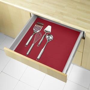 Červená protiskluzová podložka do zásuvky Wenko Anti Slip, 150x50cm