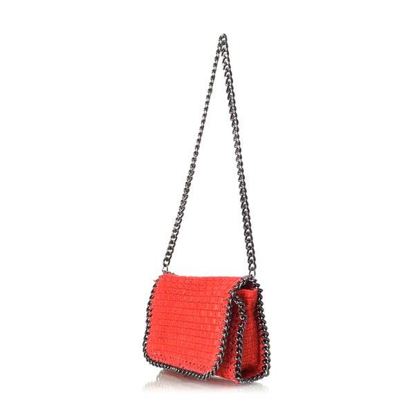 Skórzana torebka Deborah, czerwona