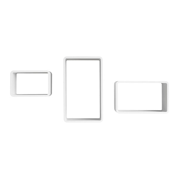 Zestaw 3 białych półek Intertrade Trio