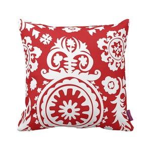 Czerwono-biała   poduszka Elegant Red, 43x43cm