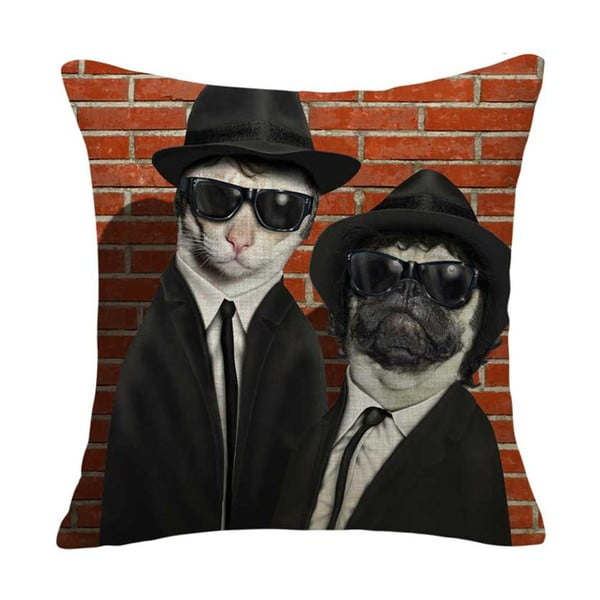 Poszewka na poduszkę Mafia Dog & Cat, 45x45 cm